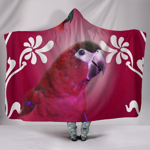 Mini Macaw Parrot Print Hooded Blanket