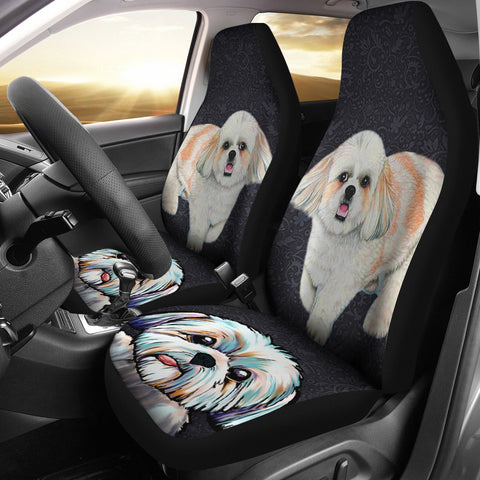 Cute Shih Tzu Dog Print Car Seat Covers