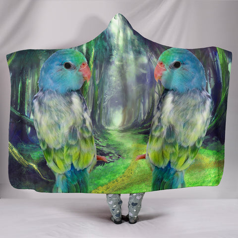 Lovely Parrotlets Parrot Print Hooded Blanket