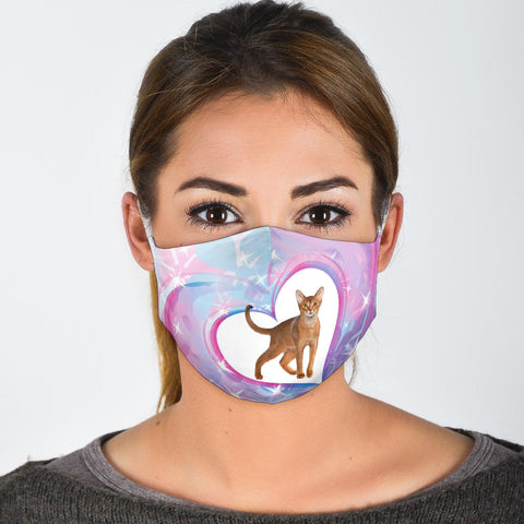 Amazing Abyssinian Cat Print Face Mask