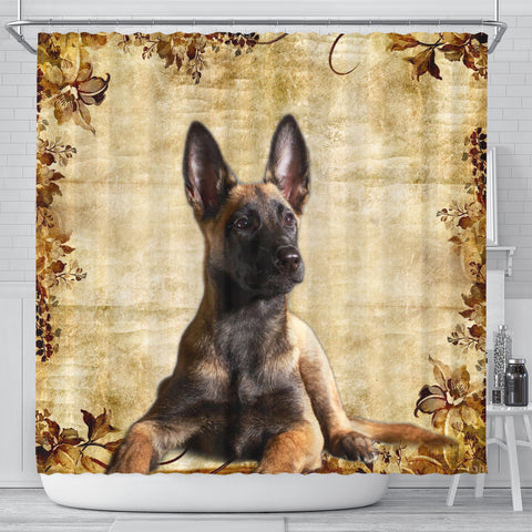 Cute Malinois Dog Print Shower Curtains