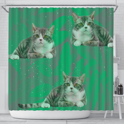 American Wirehair Cat Print Shower Curtains