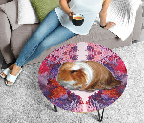 Peruvian Guinea Pig Print Circular Coffee Table