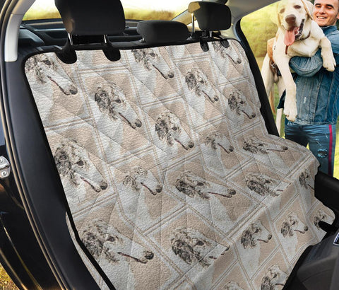 Borzoi Print Pet Seat Covers