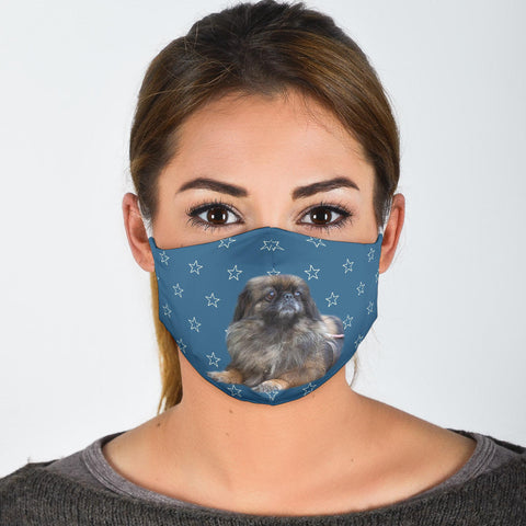 Pekingese Dog Print Face Mask