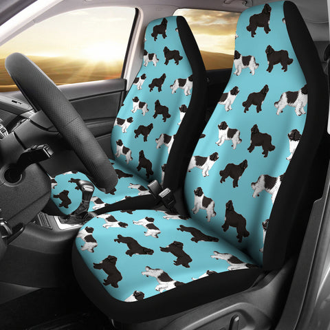 Newfoundland Dog Pattern Print Car Seat Covers