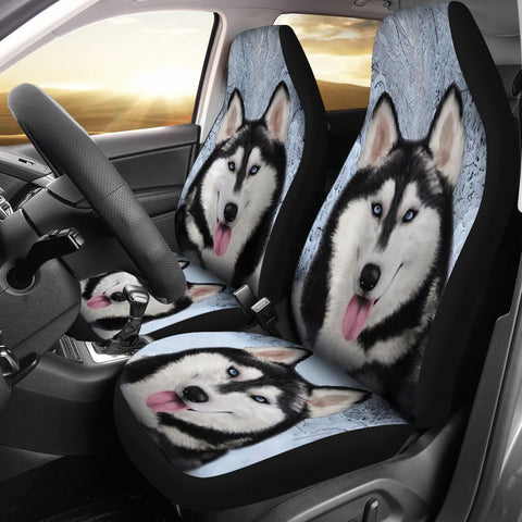 Amazing Siberian Husky Dog Print Car Seat Covers