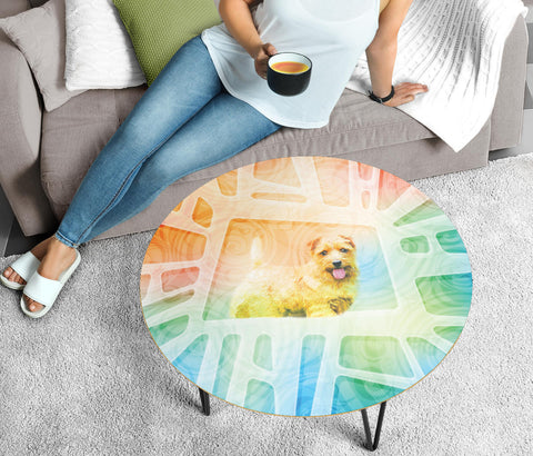 Norfolk terrier Dog Print Circular Coffee Table