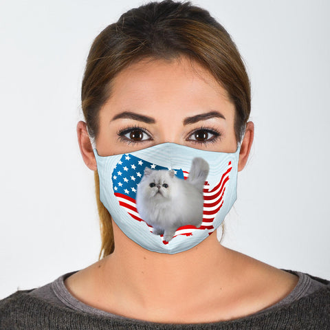 Persian Cat Print Face Mask