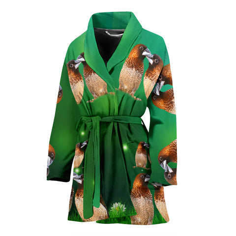 Society Finch Bird Print Women's Bath Robe