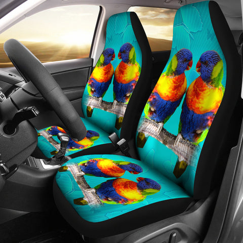 Lories And Lorikeets Bird Print Car Seat Covers