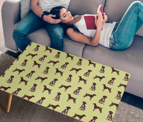 German Shorthaired Pointer Dog Pattern  Print Rectangular Coffee Table
