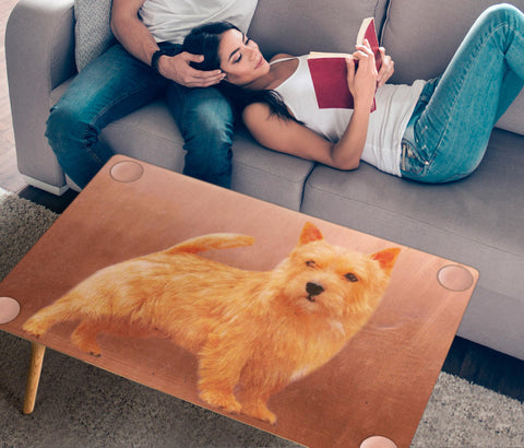 Cute Norfolk Terrier Dog Print Rectangular Coffee Table