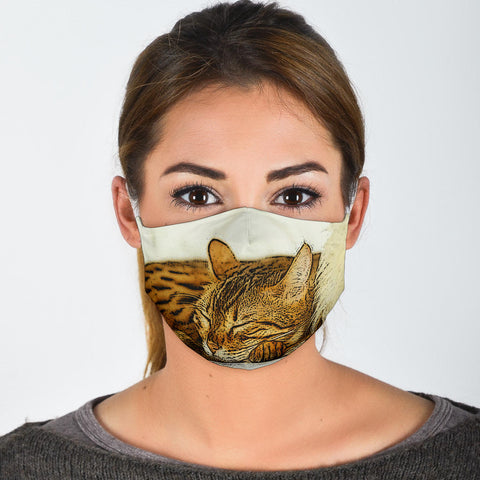 Toyger Cat Print Face Mask