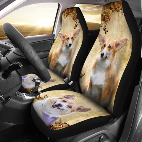 Pembroke Welsh Corgi Print Car Seat Covers