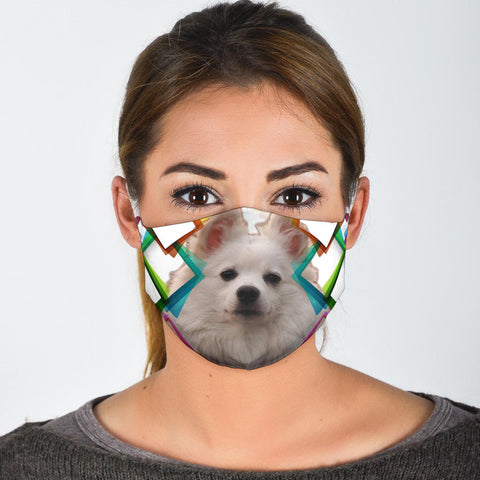 Lovely American Eskimo Dog Print Face Mask