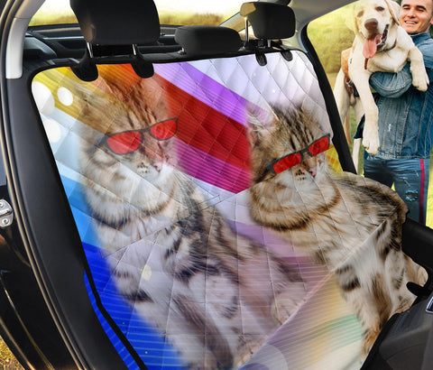 Cute Siberian Cat Print Pet Seat Covers