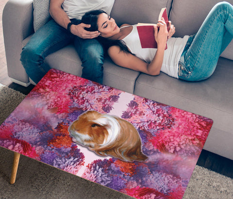 Peruvian Guinea Pig Print Rectangular Coffee Table