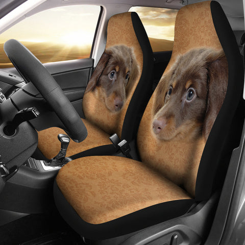 Lovely Dachshund Print Car Seat Covers