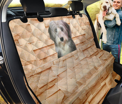 Lovely Bearded Collie Print Pet Seat Covers