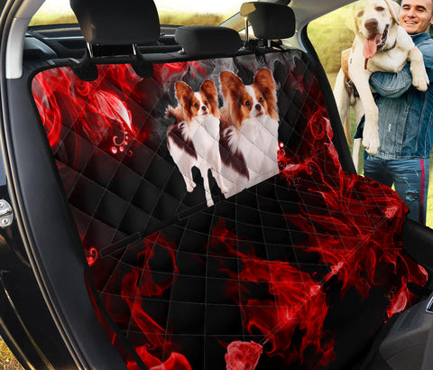 Lovely Papillon On Red Print Pet Seat Covers