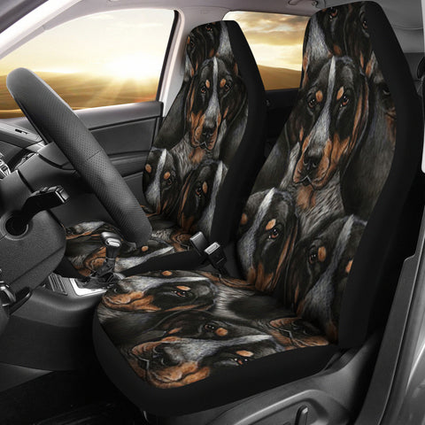 Bluetick Coonhound Dog In Lots Print Car Seat Covers