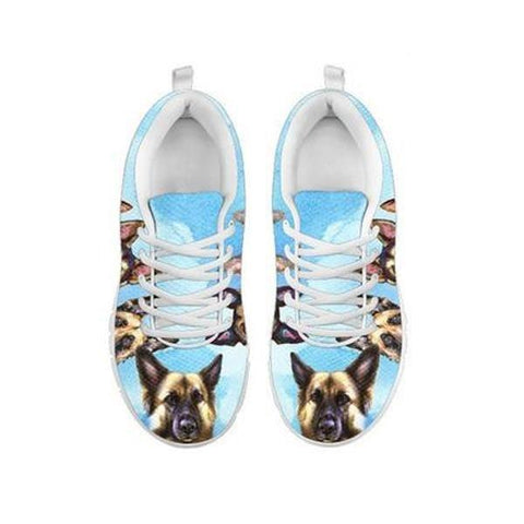 Painted German Shepherd Print Running Shoes For WomenFor 24 Hours Only