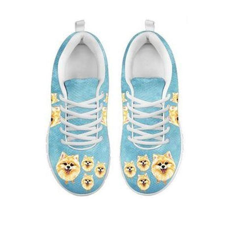 Lovely Pomeranian Dog Print Running Shoes For WomenFor 24 Hours Only