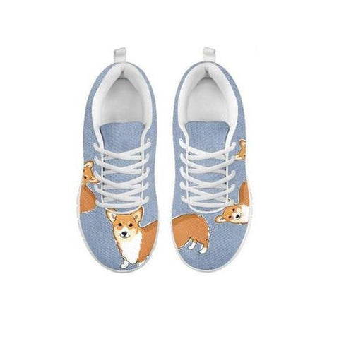 Cute Pembroke Welsh Corgi Print Running Shoes For WomenFor 24 Hours Only