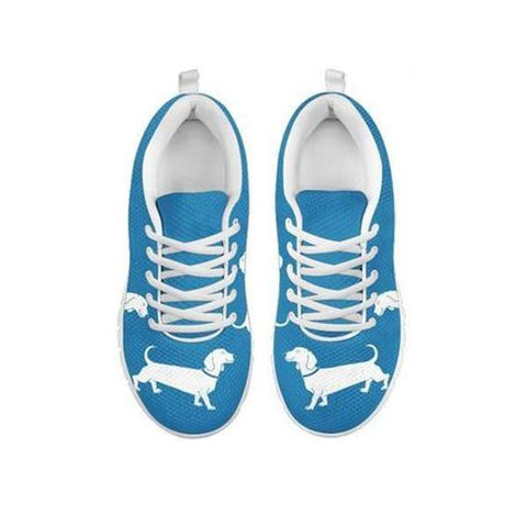 Cute Dachshund Dog Print Running Shoes For WomenFor 24 Hours Only