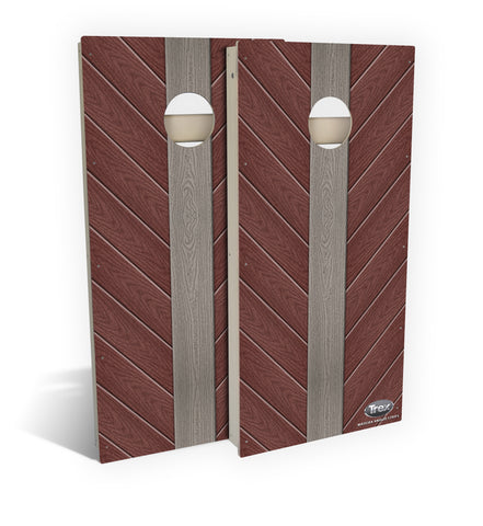 Madeira Angled Strips Cornhole Board Set (includes 8 all-weather bags)
