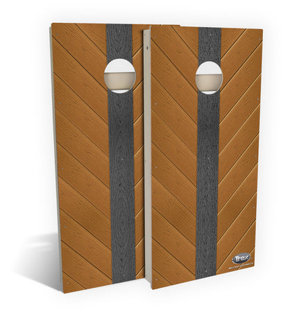 Mustard Seed Angled Cornhole Board Set (includes 8 all-weather bags)
