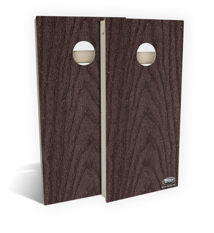 Woodland Brown Cornhole Board Set (includes 8 all-weather bags)