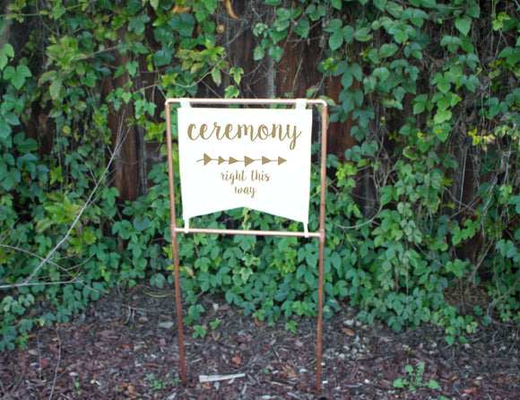 Copper Ceremony Wedding Sign