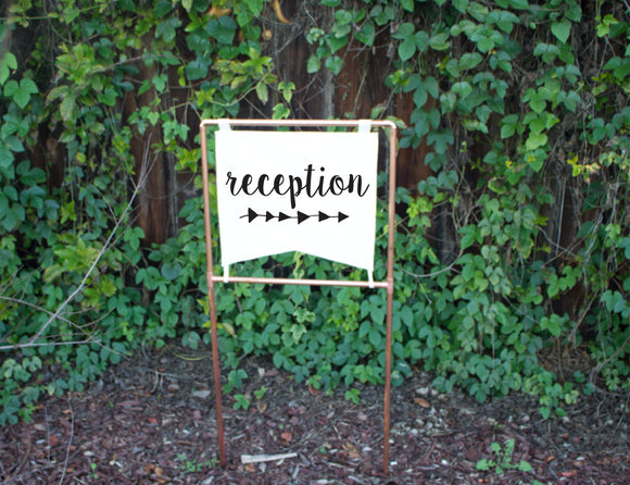Copper Wedding Reception Sign