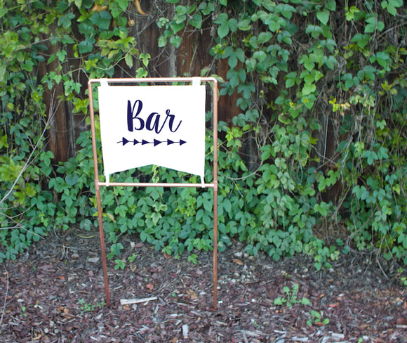 Copper Wedding Bar Sign