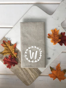 Personalized Monogram Linen Napkins