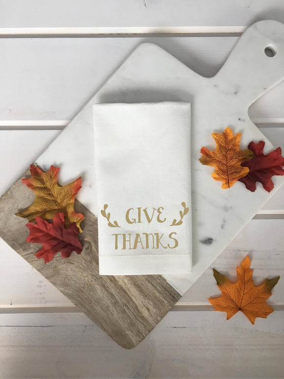 Give Thanks Linen Napkins
