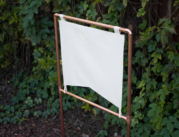 DIY Blank Canvas Copper Sign and Stand