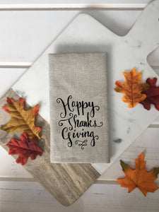 Happy Thanksgiving Linen Napkins