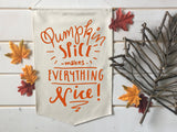 Pumpkin Spice Fall Banner