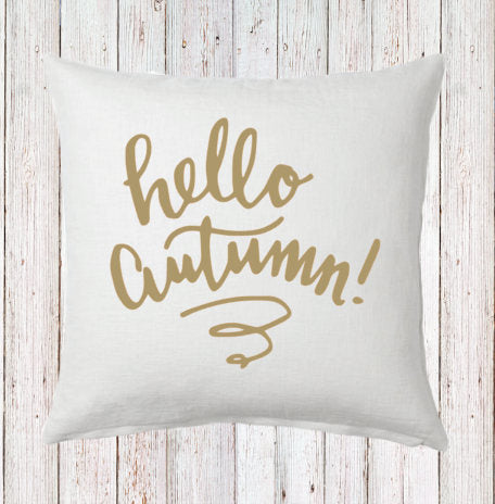 Hello Autumn Fall Pillow and Insert