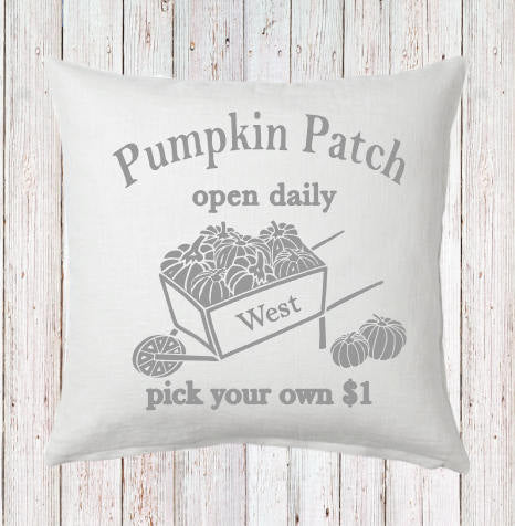 Personalized Pumpkin Patch Fall Pillow
