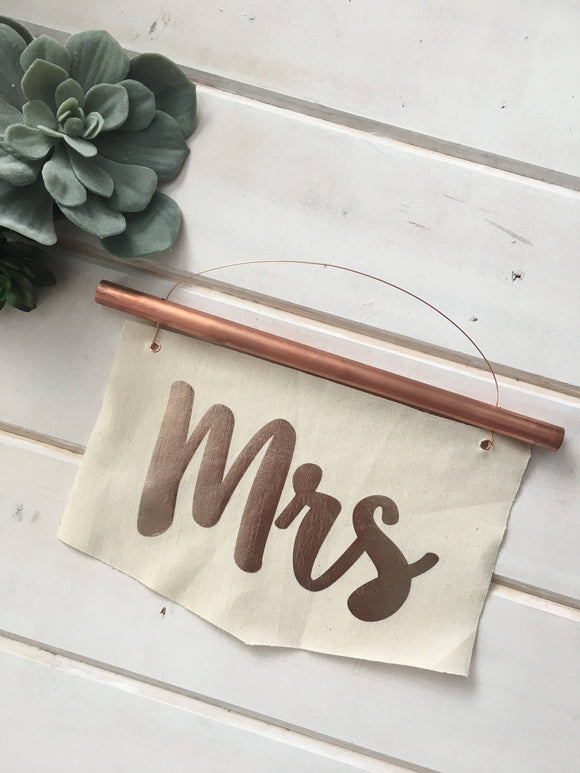 Copper Mr and Mrs Signs