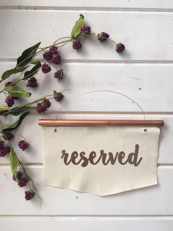 Copper Wedding Reserved Signs