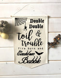 Double Double Toil and Trouble Fall Banner