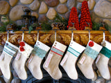 NON - Personalized Christmas Stocking: Green and Red Collection