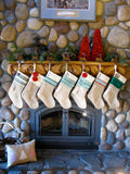 Personalized Christmas Stocking: Green and Red Collection