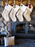 Personalized Burlap Christmas Stocking: Neutrals Collection