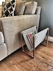 Copper Piping Magazine Rack